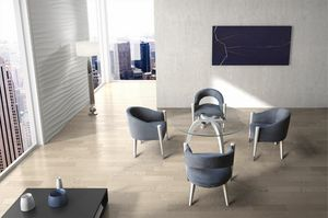 BS604T � Tavolo, Tavolo in legno massello con piano in vetro
