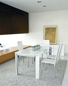 Tavoli tavoli allungabili moderni metallo vetro idf - Tavoli moderni sala da pranzo ...