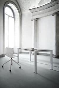 Absinthe, Tavolo in metallo verniciato, piano in laminato