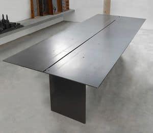 ART. 262/F STEEL, Tavolo elegante, in metallo verniciato a cera