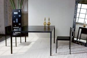 Ernesto Natural, Tavolo in metallo, dal design minimale, personalizzabile al millimetro