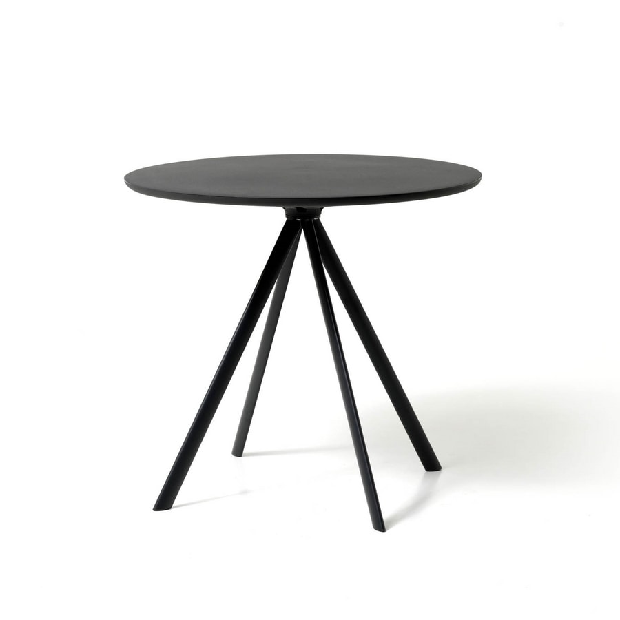 Margarita tavolo, Tavolo rotondo in metallo, con piano in polietilene