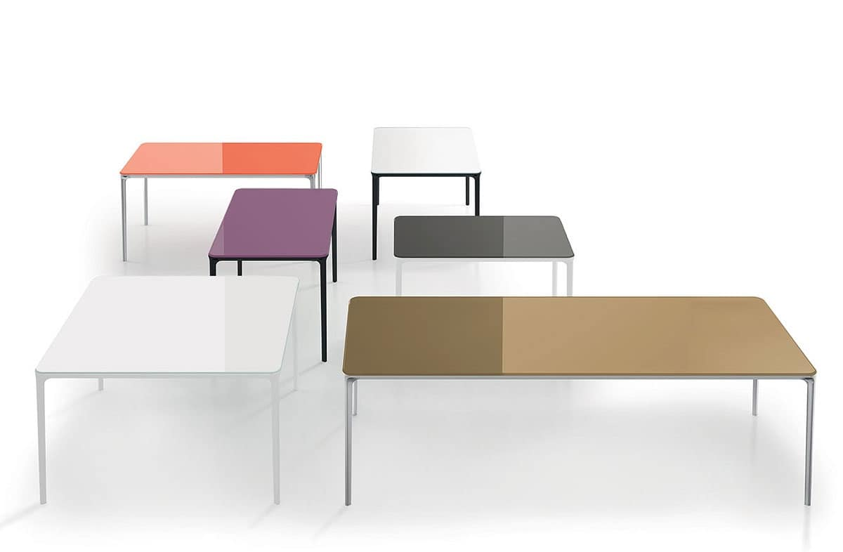 Tavoli in metallo dalla linea contemporanea per salotto for Console per salotto