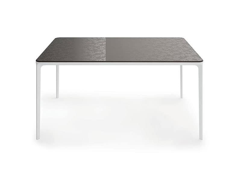 Slim 10, Tavolo struttura metallica Soggiorno