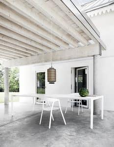 Thin-k Outdoor, Tavolo design in alluminio, per uso contract e domestico