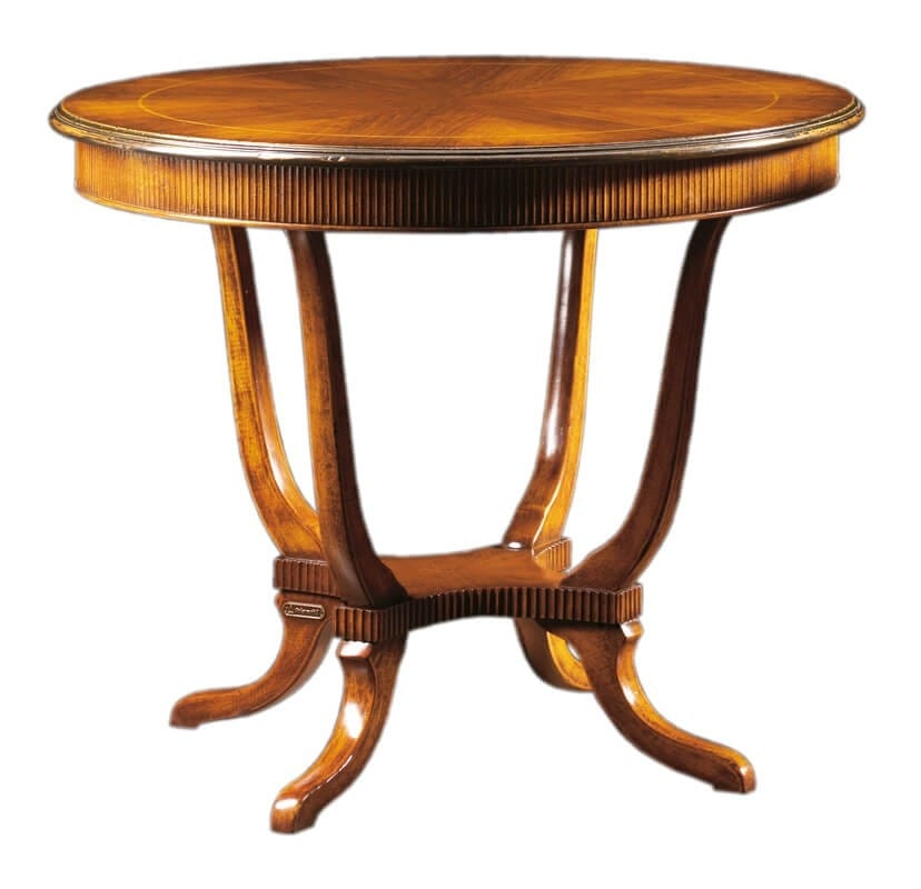 Tavolino Tondo Inglese.Tavolo Tondo In Stile Inglese Idfdesign