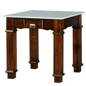 Art. 483, Tavolo in legno, piano in marmo