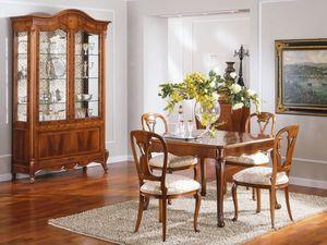 OLIMPIA B / Tavolo quadrato allungabile - Outlet, Tavolo classico di lusso in legno, prezzo outlet