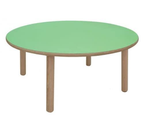 IT_C, Tavolo rotondo in legno, ideale per aree gioco