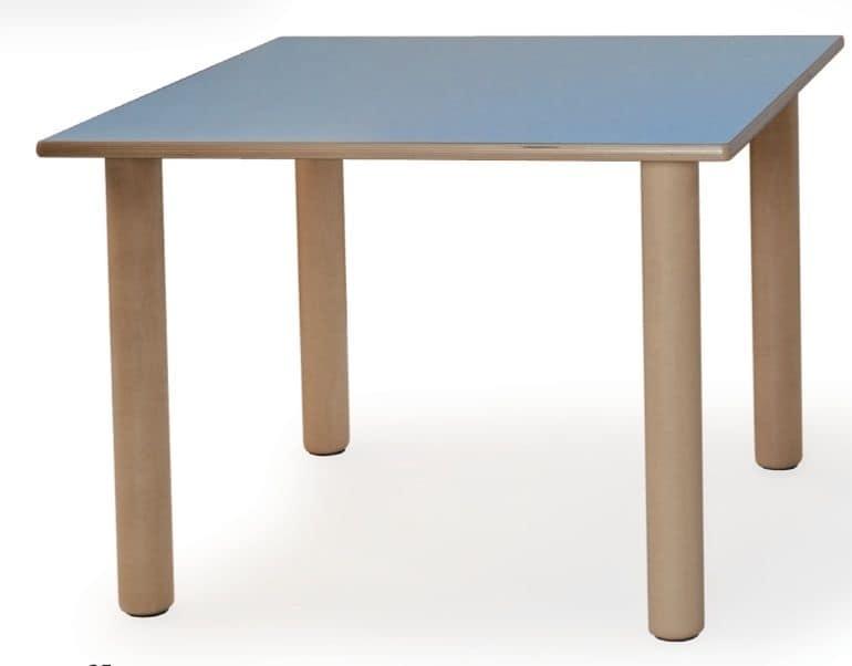 Tavolino componibile per bambini realizzato in legno vari colori per scuole e asili idfdesign - Tavoli gioco per bambini ...