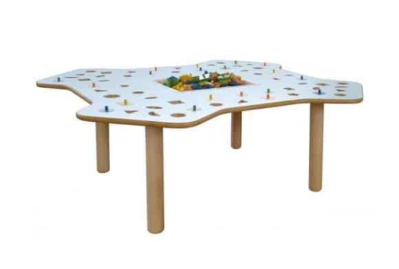 Tavolo educativo in multistrato di betulla piano lavabile idfdesign - Tavoli gioco per bambini ...