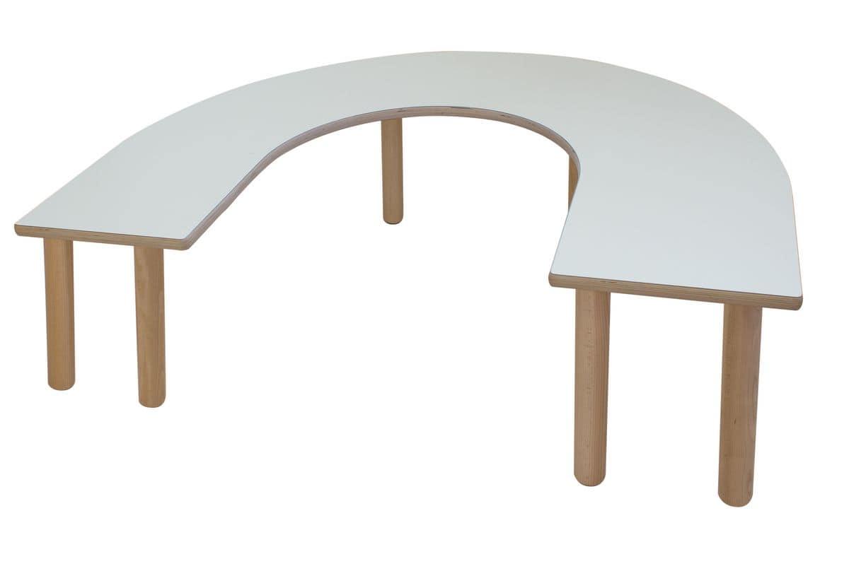 Tavolo in multistrato di betulla per i bambini for Tavolino per bambino