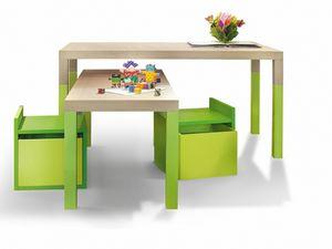 Tavolo, Tavolo per bambini ad altezza variabile
