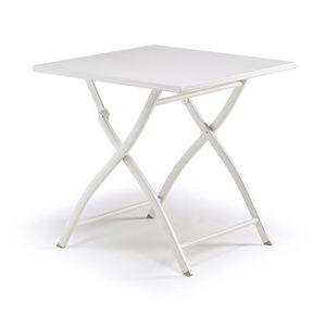 3075, Tavolo pieghevole, interamente in alluminio verniciato