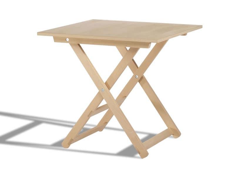 Tavolo chiudibile in legno con piano tondo per esterni for Tavolo alto pieghevole