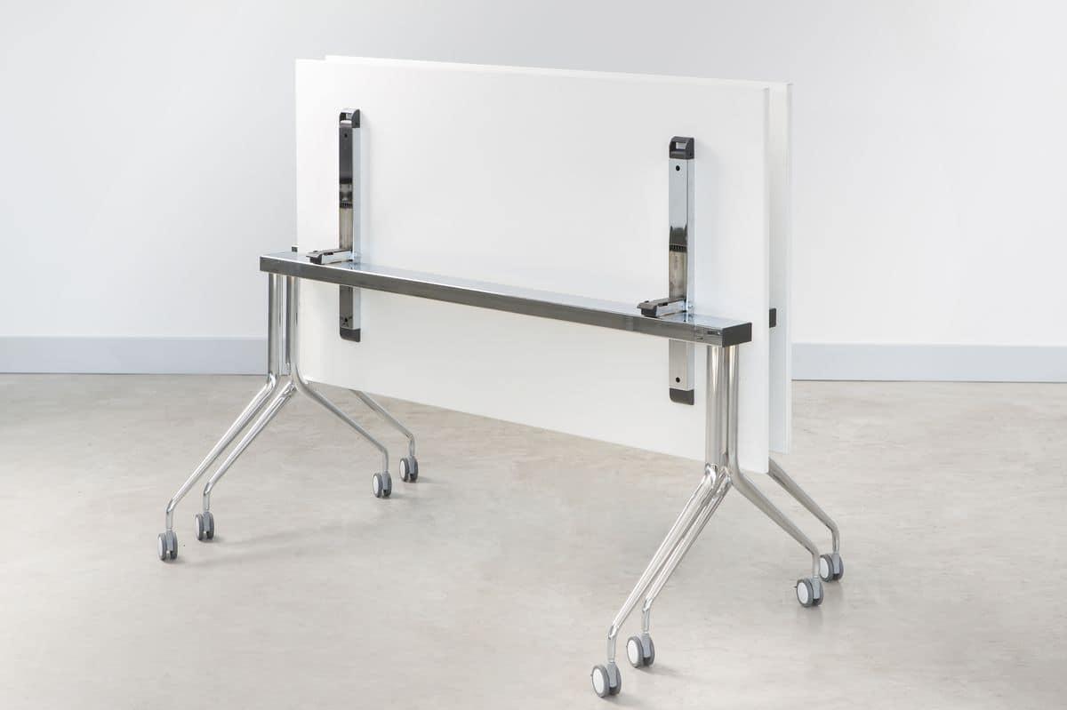 Tavoli Pieghevoli Per Ufficio.Tavolo Con Piano Ribaltabile Per Ufficio Idfdesign