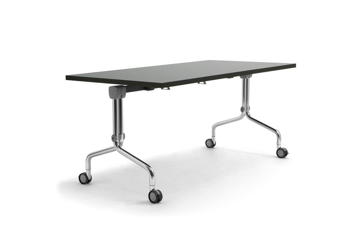 Arno 5, Tavolo su ruote con piano reclinabile, per ristorazione