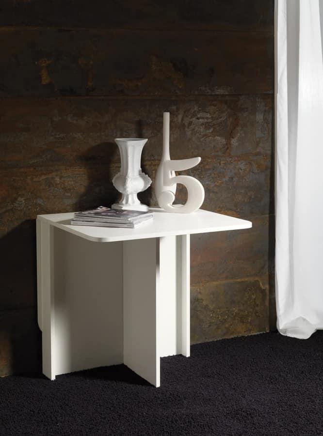 Tavolo in legno bianco richiudibile idfdesign - Tavolo richiudibile in legno ...