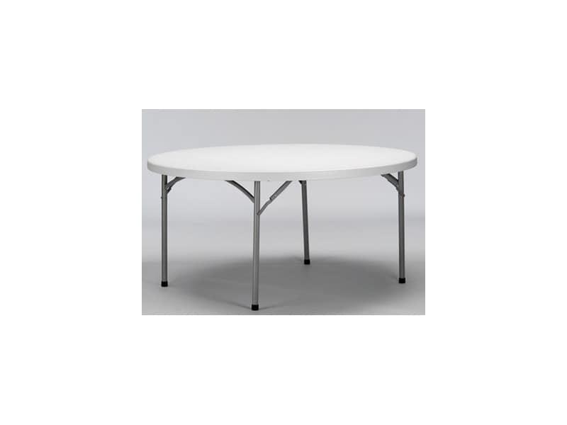 Tavolo pieghevole rotondo piano in polietilene per for Tavolo rotondo barocco