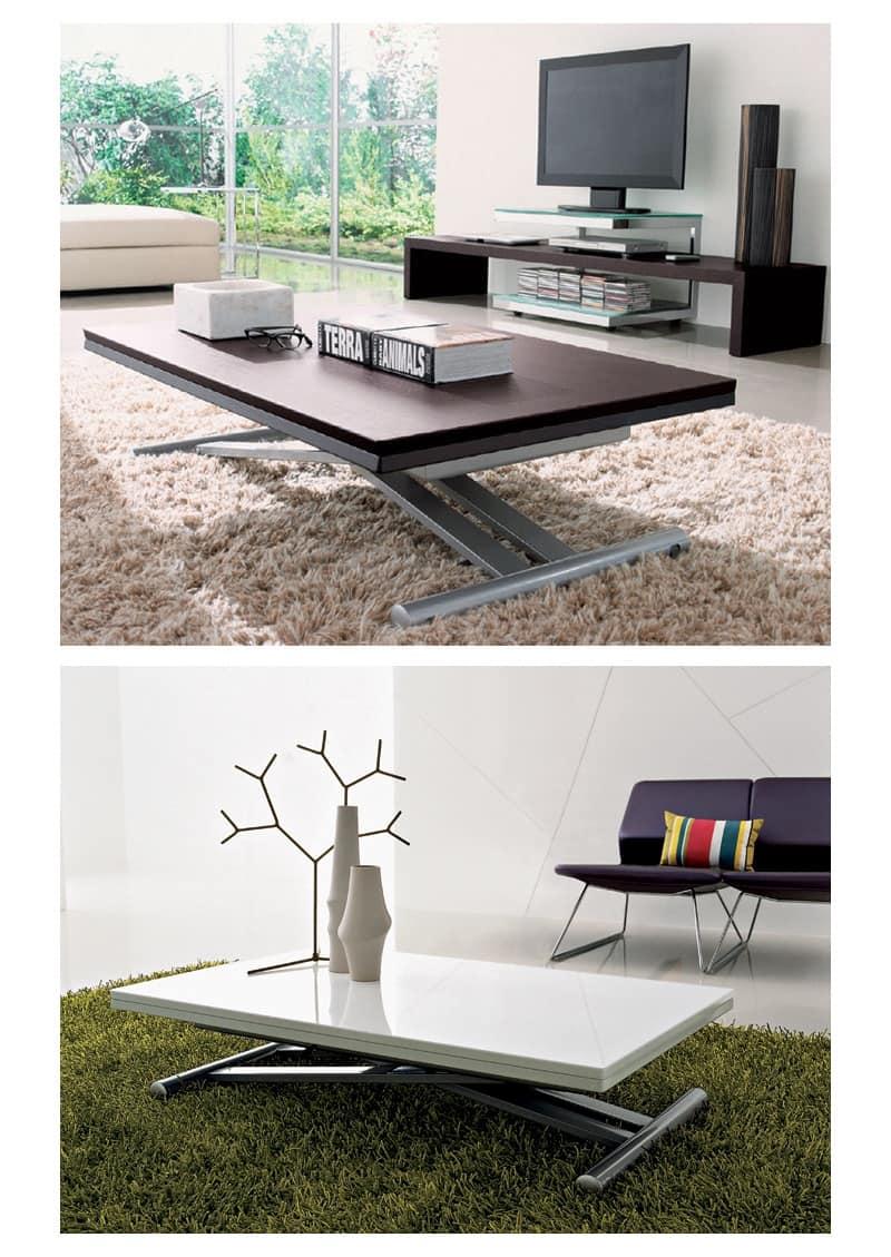 Tavolo quadrato trasformabile in rotondo - Ikea tavolini pieghevoli ...