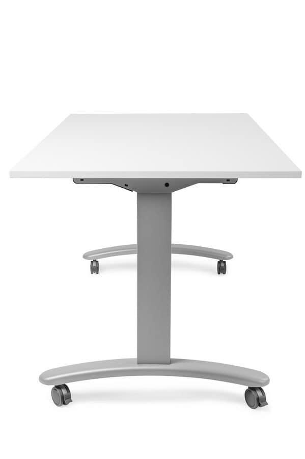 Tavolo su ruote con piano ribaltabile, per uffici   IDFdesign