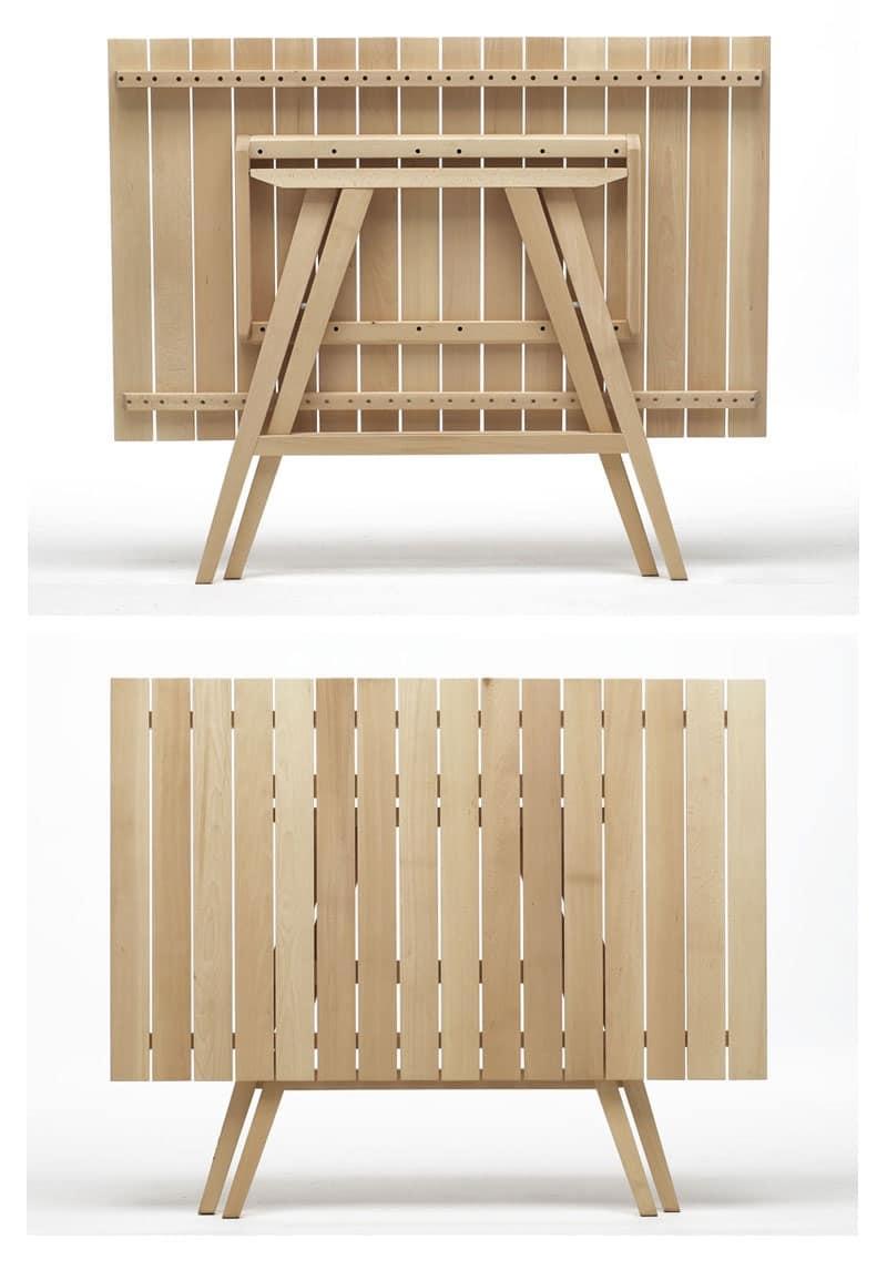 Tavoli chiudibili in legno per catering idfdesign for Tavoli pieghevoli