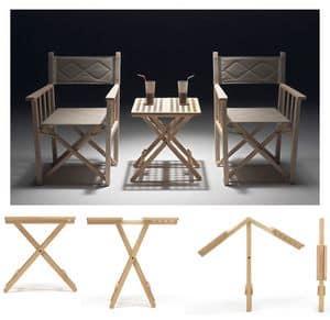Fifty - Fifty, Tavoli pieghevole salvaspazio, in legno di faggio