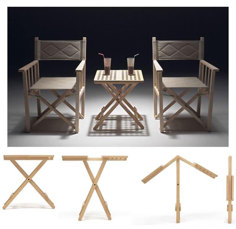 Tavoli pieghevole salvaspazio in legno di faggio idfdesign for Tavoli pieghevoli