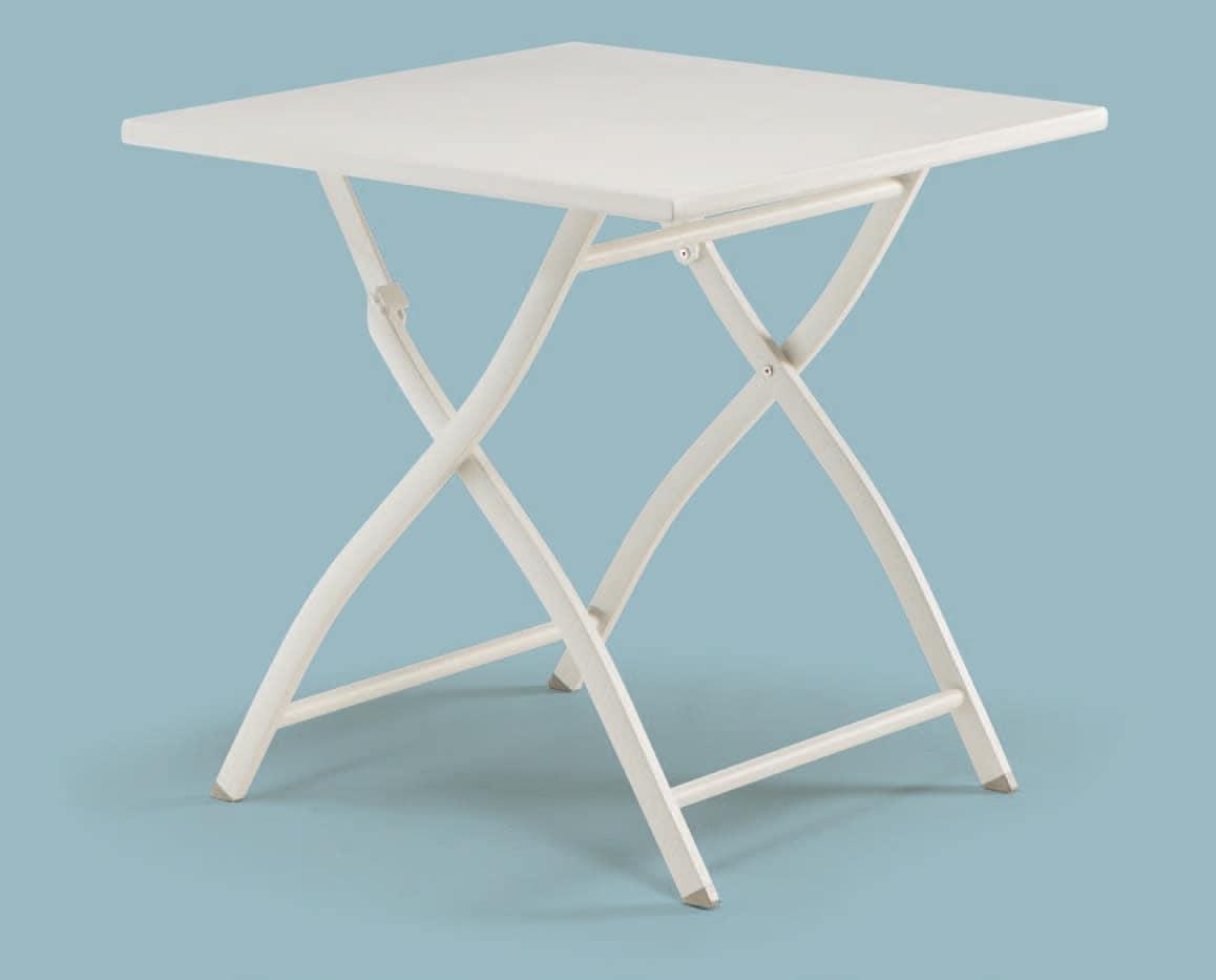 Tavoli Pieghevoli In Alluminio.Tavolino Pieghevole In Alluminio Per Esterni Idfdesign