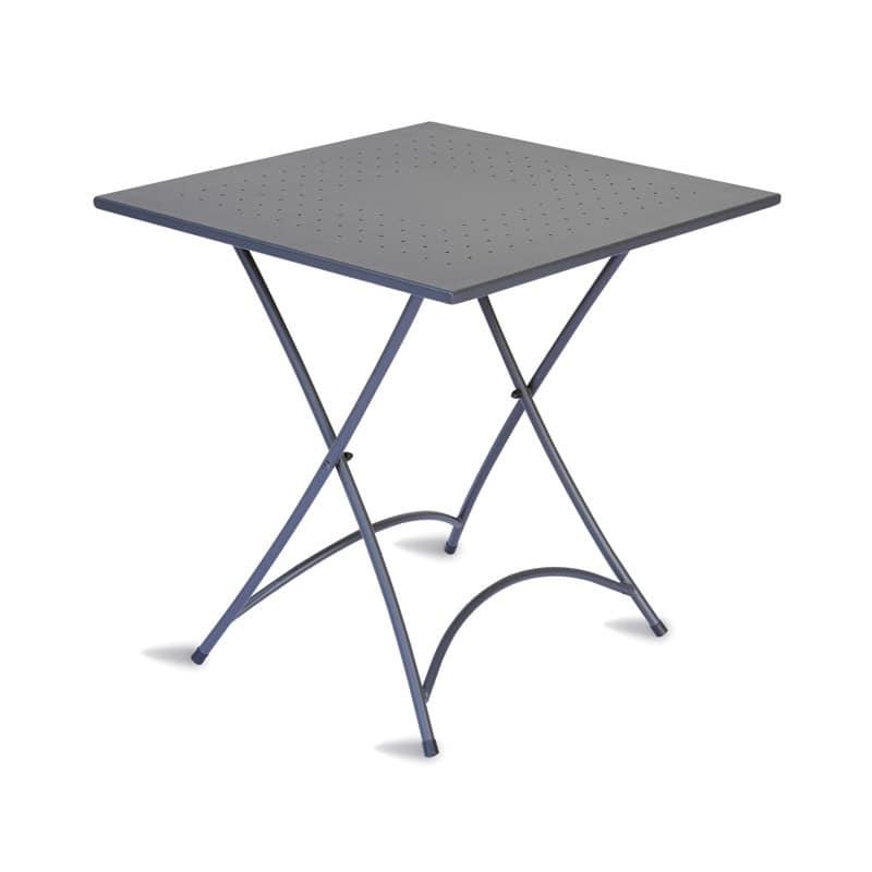 Tavolo quadrato pieghevole per catering in acciaio for Tavoli pieghevoli