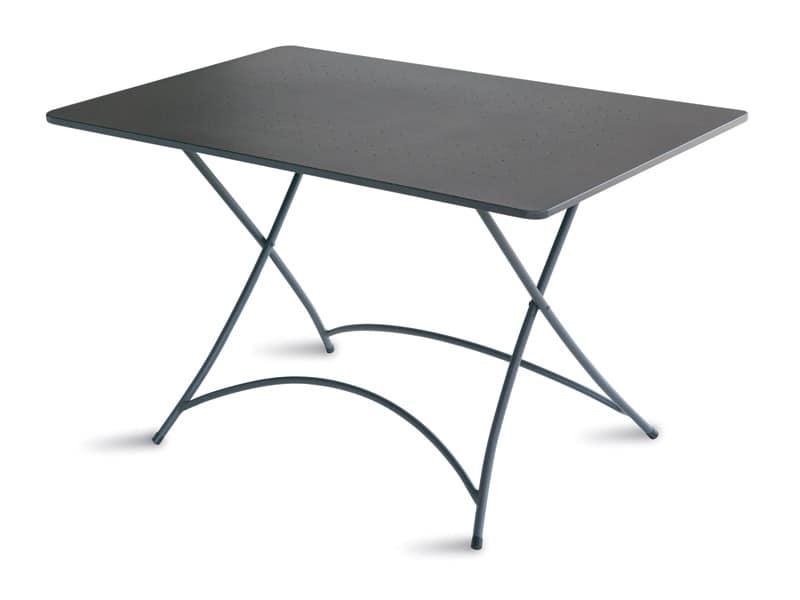 Tavolo sovrapponibile in acciaio zincato per esterni - Tavoli pieghevoli alluminio ...