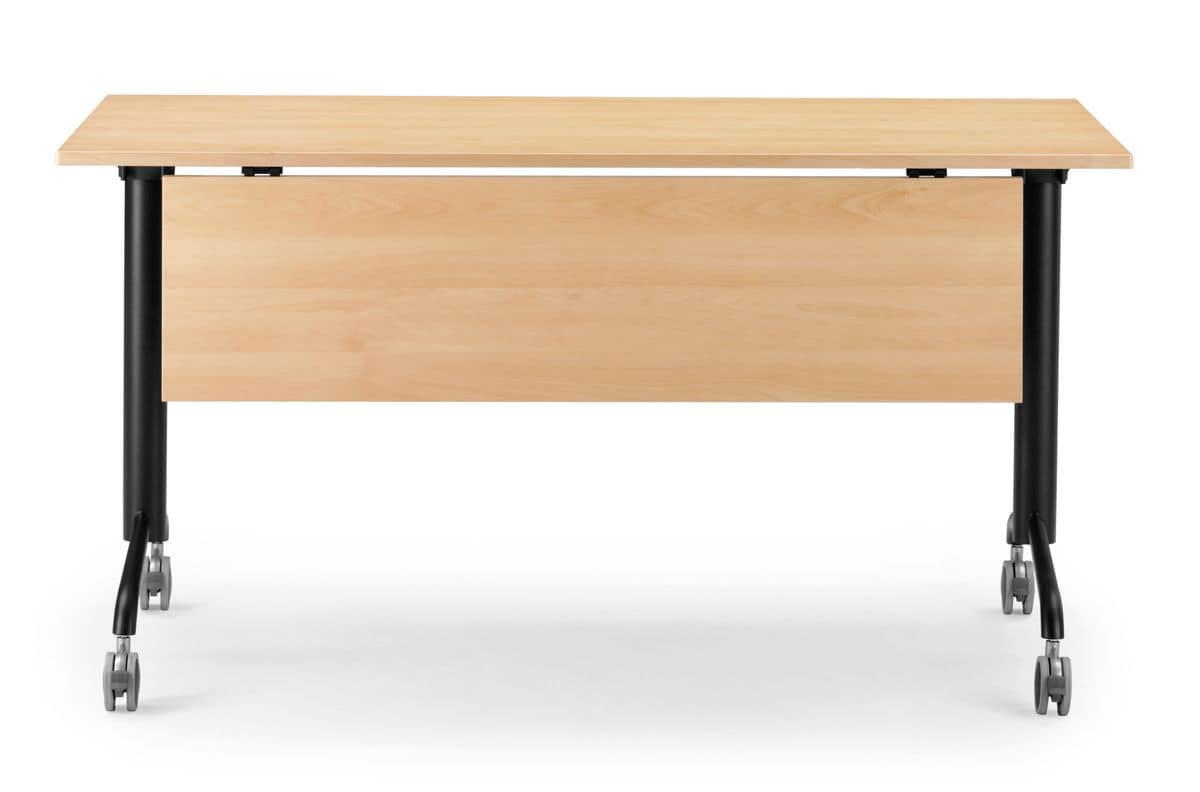 Tavolo con piano ribaltabile e ruote bloccanti idfdesign for Tavoli pieghevoli