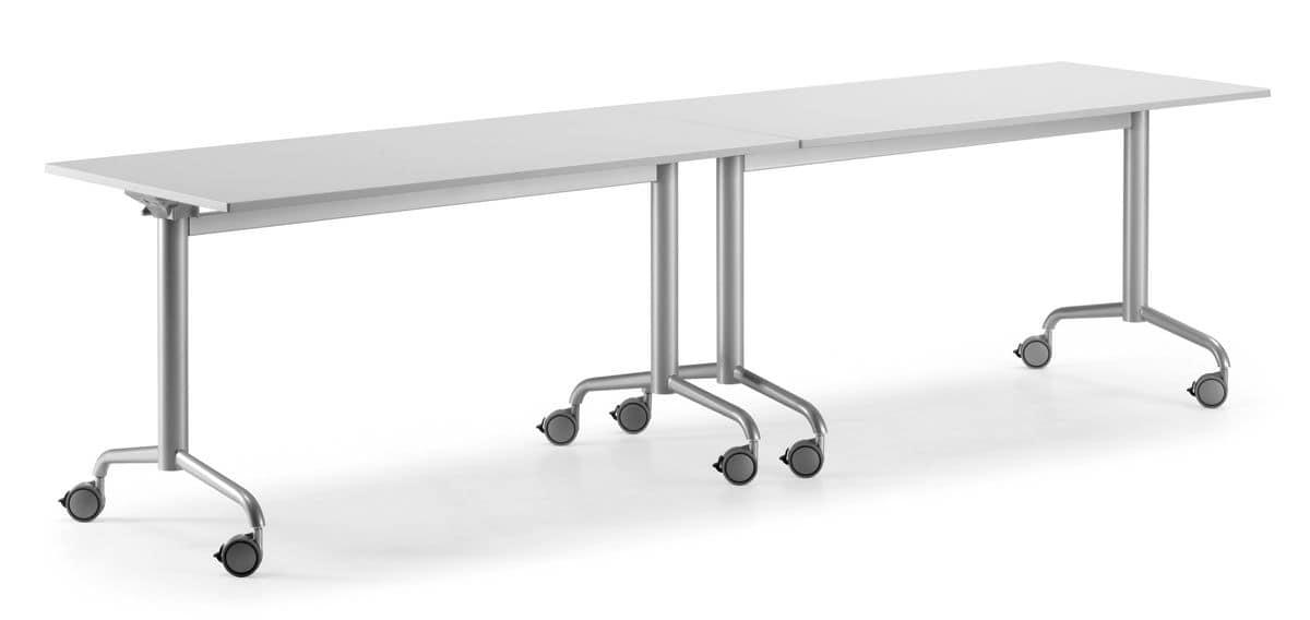Tavoli Pieghevoli Con Ruote.Tavolo Con Piano Ribaltabile E Ruote Bloccanti Idfdesign