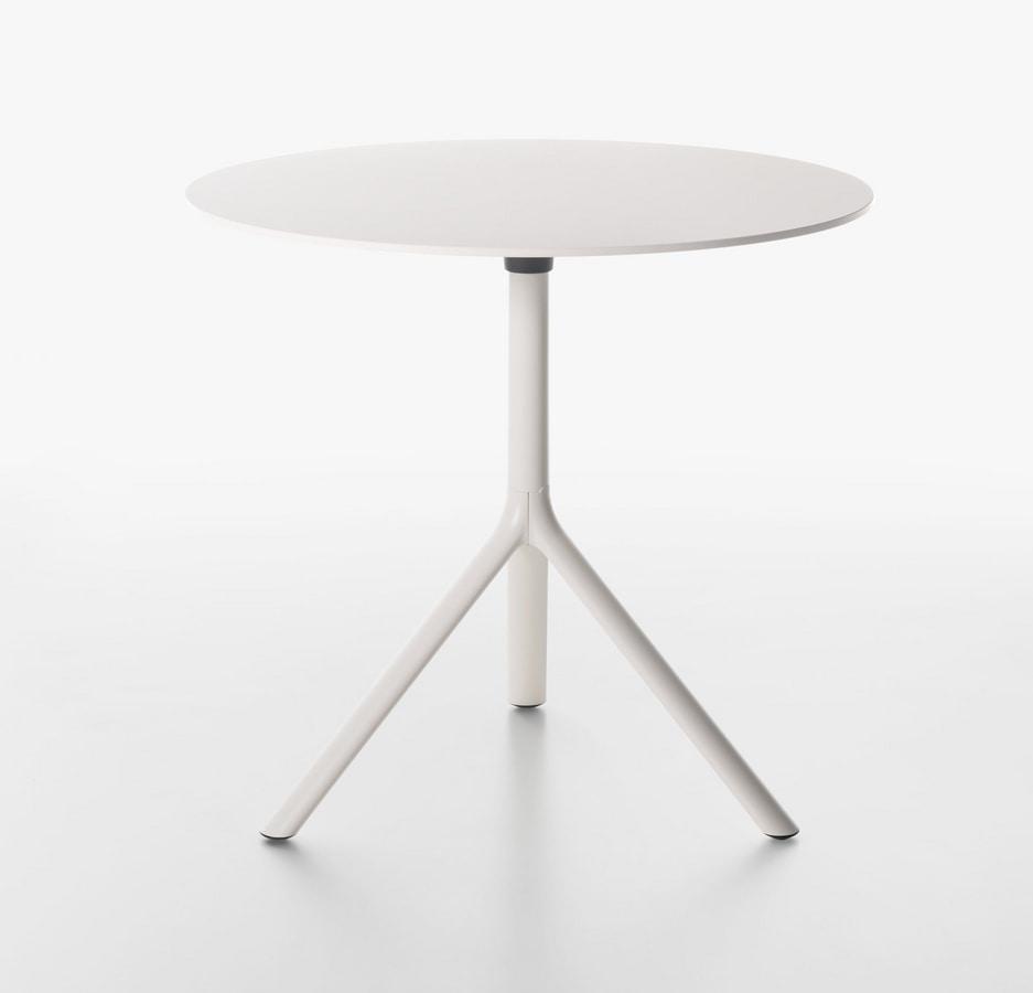 Miura I tavolo bistro rotondo , Tavolino rotondo con piano ribaltabile