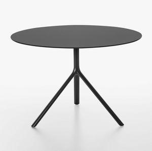 Miura I tavolo rotondo ( � 100-110) , Tavolo rotondo con piano ribaltabile