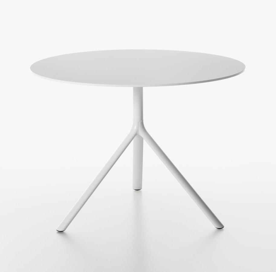 Miura I tavolo rotondo ( Ø 100-110) , Tavolo rotondo con piano ribaltabile