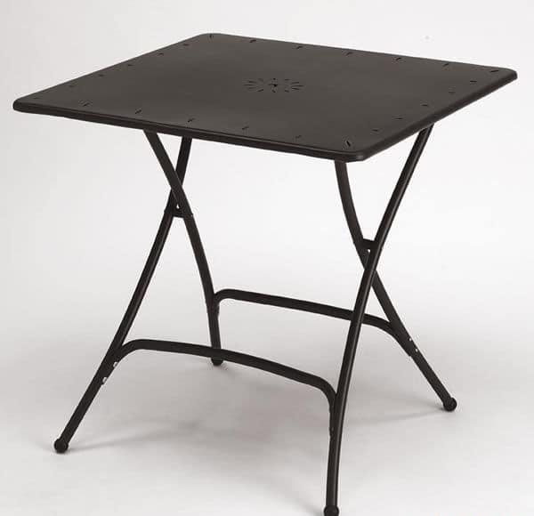 tavolo pieghevole in metallo per giardino idfdesign