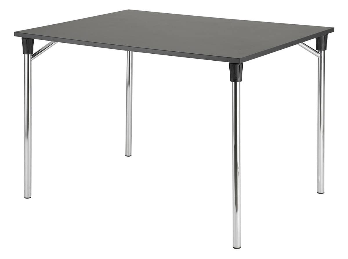 Tavolo con piano pieghevole antiscivolo e antigraffio for Tavoli pieghevoli
