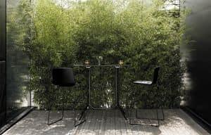 Poule Rectangular high, Tavolo rettangolare alto di design, per bar all'aperto