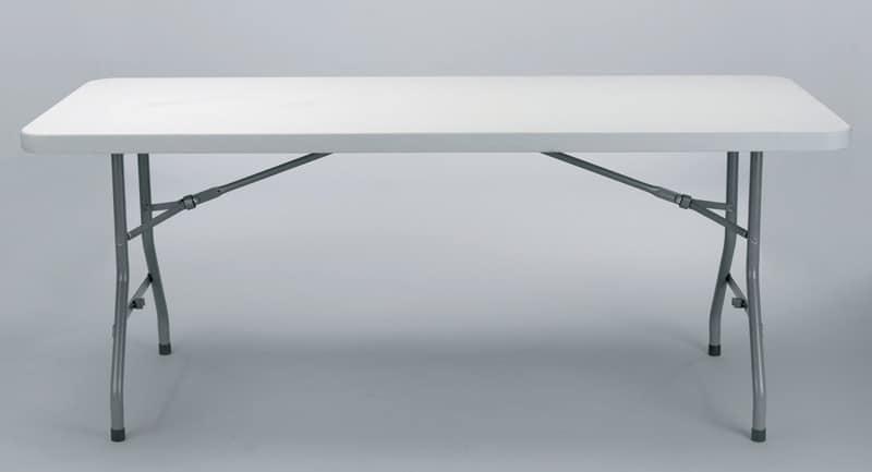 tavolo chiudibile con ganci laterali per ricevimenti