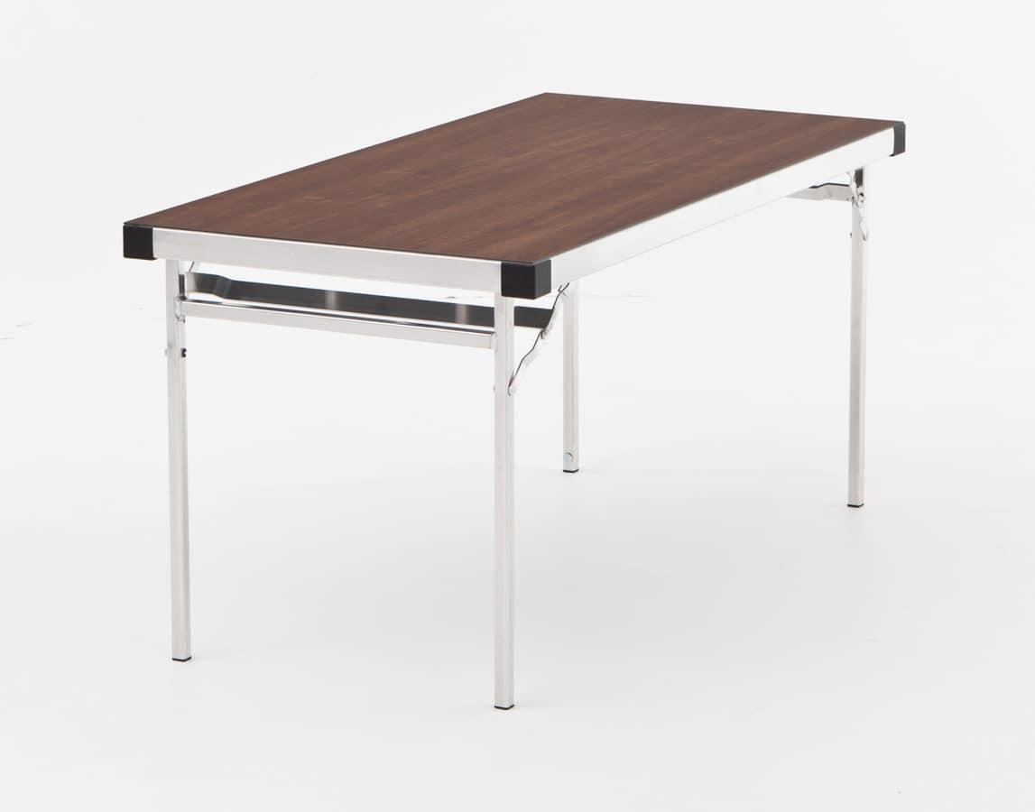 Tavolo chiudibile in alluminio modulare per esterno idfdesign - Tavoli pieghevoli da interno ...