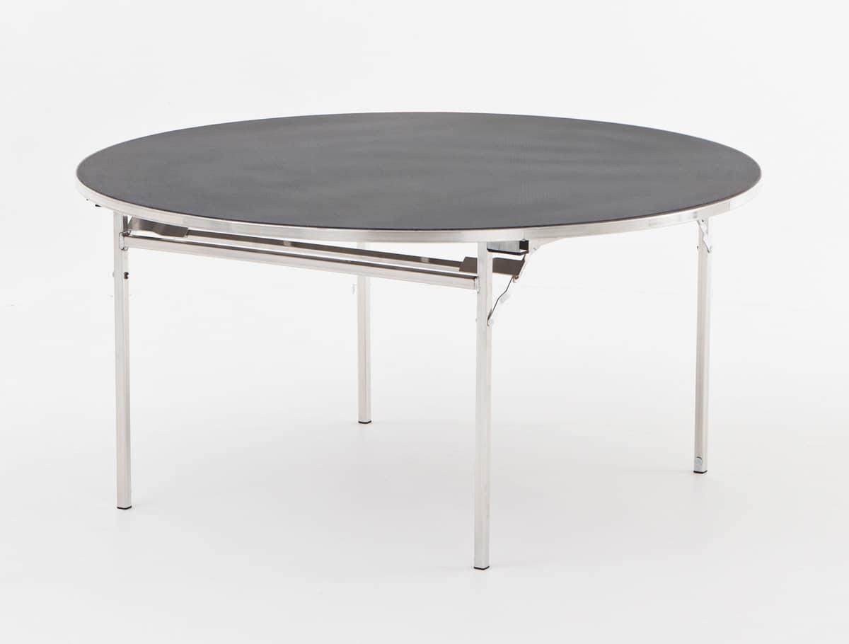 Tavolo con struttura pieghevole per sale conferenze for Tavolo plastica pieghevole
