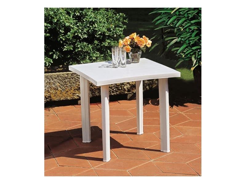 Tavolo quadrato in resina per esterno idfdesign - Tavolo plastica esterno ...