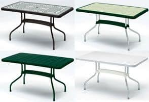 Ribalto Top tavolo 140x80, Tavolo da giardino con piano ribaltabile