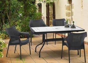Immagine di Ribalto Top tavolo 140x80, tavoli anti-intemperie
