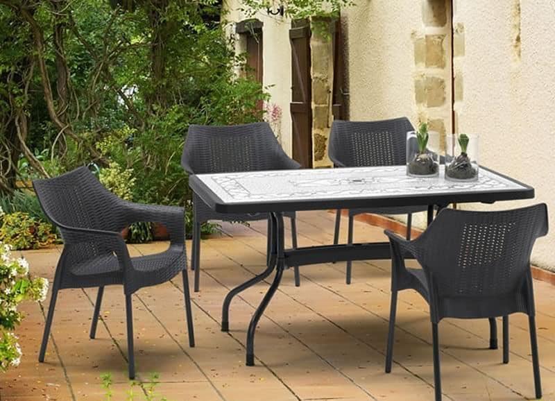 Tavolo da giardino con piano ribaltabile idfdesign - Tavolo plastica esterno ...