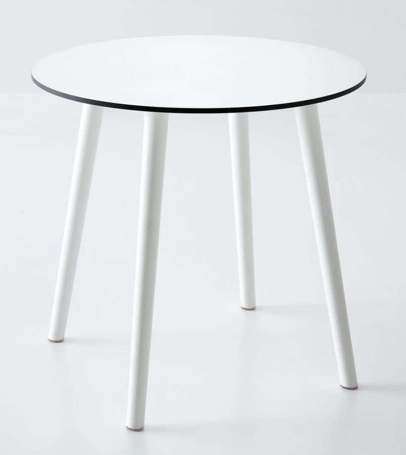 Tavolo rotondo in plastica per esterni idfdesign - Mobili in plastica per esterni ...