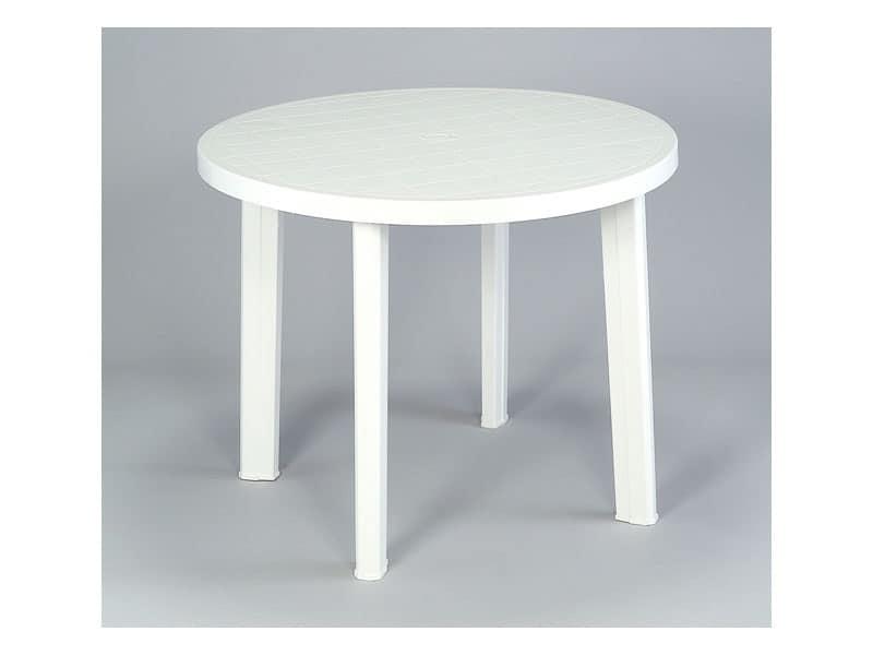 Tavolo rotondo in plastica per uso esterno idfdesign - Tavolo plastica esterno ...