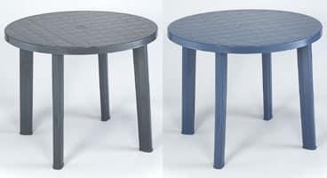 Tondo, Tavolo rotondo in plastica, per uso esterno