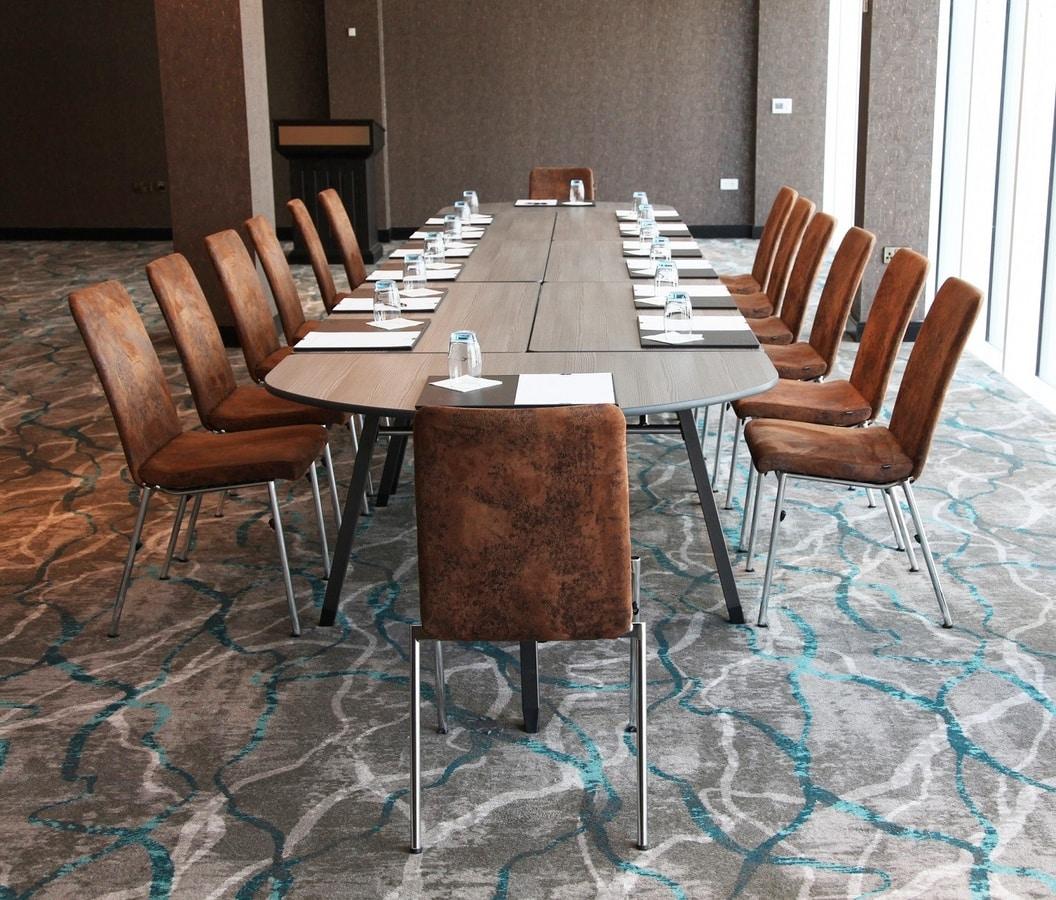 A-Fold AF1575, Tavolo rettangolare per riunioni, conferenze e banchetti